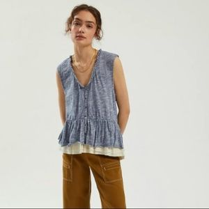 Anthropologie Pilcro Chrissy Babydoll Top
